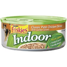 Indoor Classic Pate Chicken Dinner with Garden Greens Wet Cat Food (5.5-oz can, case of 24)