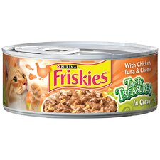 Tasty Treasures with Chicken, Tuna and Cheese Wet Cat Food (5.5-oz can, case of 24)