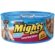 Seared Beef with Cheese Wet Dog Food in Gravy (5.5-oz, case of 24)