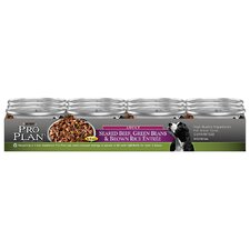 Adult Seared Beef Grean Beans and Brown Rice Dog Food in Gravy (5.5-oz, case of 24)