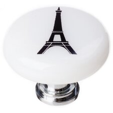 "New Vintage 1.25"" Eiffel Tower Round Knob"