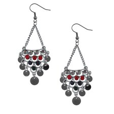 Bohemian Crystal - Disc Dangling Earrings