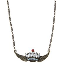 Winged Crown Necklace
