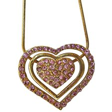 3-piece Sliding Heart Necklace