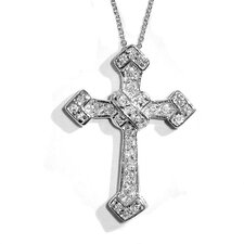 Cubic Zirconia Cross Necklace