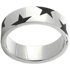 <strong>Trendbox Jewelry</strong> Etched Stars Band Ring