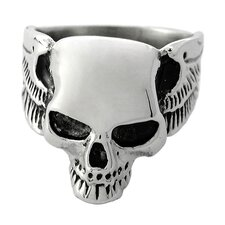 <strong>Trendbox Jewelry</strong> Polished Skull Band Ring