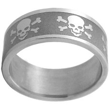 Skulls and Crossbones Band Ring