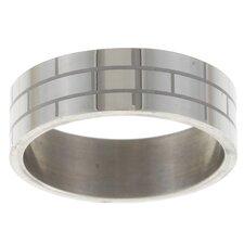 Carved Brick Band Ring