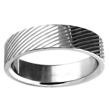 Ladies Lined Wedding Band Ring