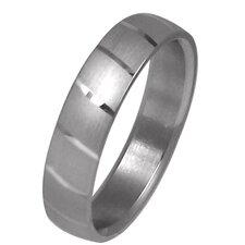 Men's Dual Polish Striped Wedding Band Ring