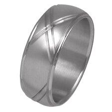 Men's Diamond Cut Wedding Band Ring