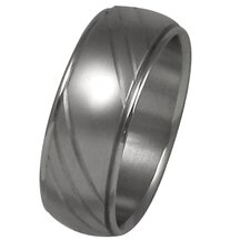 <strong>Trendbox Jewelry</strong> Men's Diamond Cut Wedding Band Ring