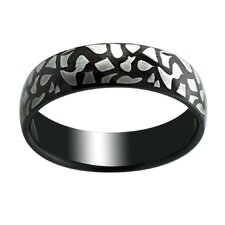 Crackle Print Band Ring