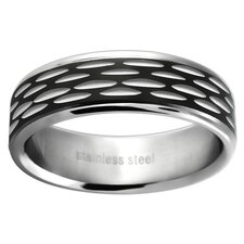 <strong>Trendbox Jewelry</strong> Ladies Etched Wedding Band Ring