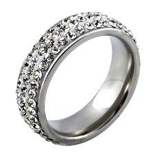 Crystal Ferido Band Ring