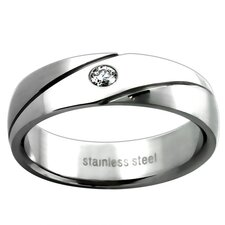 Ladies Cubic Zirconia Wedding Band Ring