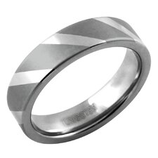 <strong>Trendbox Jewelry</strong> Men's Dual Polish Stripe Band Ring