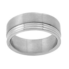 Men's Lined Band Ring