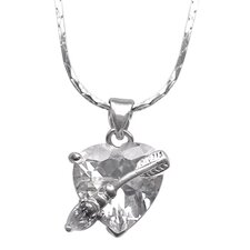 <strong>Trendbox Jewelry</strong> Cubic Zirconia Heart and Arrow Necklace Pendant