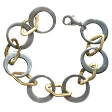 Steel Diamond-shaped Link Bracelet