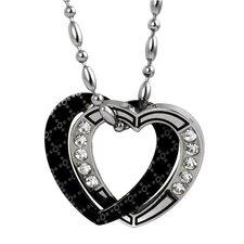 Stainless Steel Cubic Zirconia Heart Pendant
