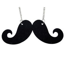 Felt Mustache Necklace