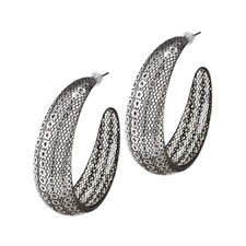 <strong>Trendbox Jewelry</strong> Sequin Hoop Earrings