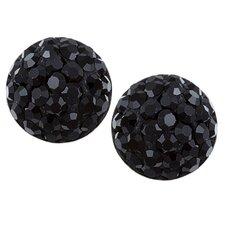 Crystal Studded Dot Earrings
