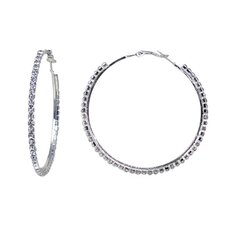 Extra Large Crystal Hoop Earrings