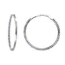Extra Large Crystal Hoop Earrings