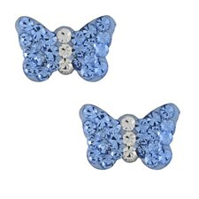 <strong>Trendbox Jewelry</strong> Crystal Butterfly Stud Earrings