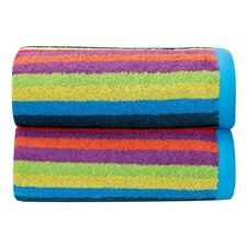 Rainbow 3 Piece Bath Towel Set (Set of 3)