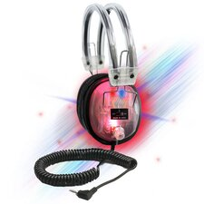 LED Light-Up Clear Housing Deluxe Headphone