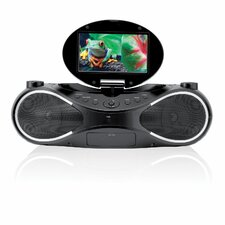 Sound Vision Portable Video Boom Box Movie and Music System with Bluetooth