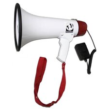 Mighty 15 Watt Megaphone with Voice Recording, External Microphone