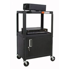 <strong>Buhl</strong> Adjustable Steel AV Cart with Locking Cabinet