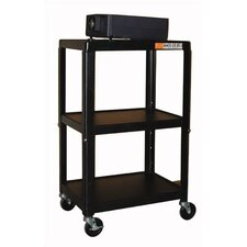Adjustable Steel AV Cart
