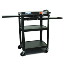 <strong>Buhl</strong> Height Adjustable AV Media Cart - Three Stationary Shelves / Two Pull-Out Shelves