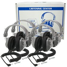 Lab Pack 4 HA7 Deluxe Headphones in a Laminated Cardboard Carry Case