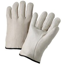 4000 Series Cowhide Leather Driver Gloves - 6120s leather drivers gloves elastic bk