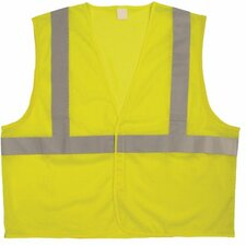 "Bi-V260 Solid Class 2 Vests Cls 2  Ansi  Solid W/2""Glass Bead Tape 4Xl/5X: 101-75239 - cls 2  ansi  solid w/2""glass bead hi vis 4xl/5x"