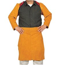 "Golden Brown Leather Sateen Waist Apron - q-11 24"" waist apron"