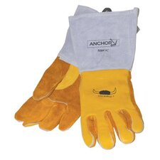 Gold Grain Cowhide Premium Welding Gloves
