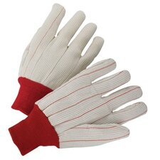 1000 Series Canvas Gloves - 4518 18oz cottondouble palm white knit
