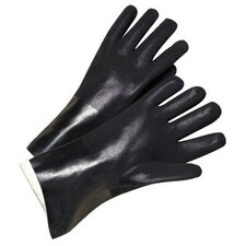 "PVC Coated Gloves - 2434 14"" black pvc finish jersey lined"