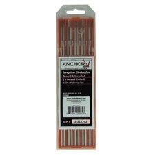 5 or 10 Pack 2% Ceria Ground Tungsten Welding Rods - 3/32x3 (ceria) 2%tungsten (10/pk)