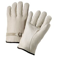 4000 Series Cowhide Leather Driver Gloves - 6124s leather drivers gloves pull strap