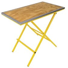 "<strong>Anchor</strong> Portable Work Table with Wooden Top - handy bench w/3/4"" plywood top & rim"