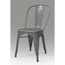 Metallica Perforated Metal Dining Chair